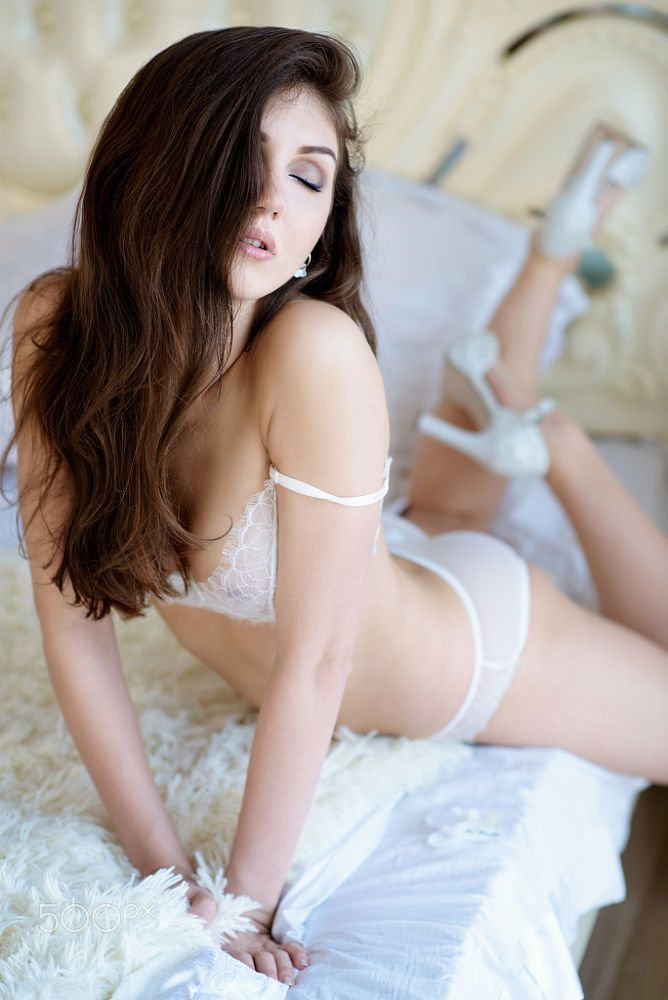 Beautiful sexy lady in elegant white panties and bra by Galina Tcivina on 500px