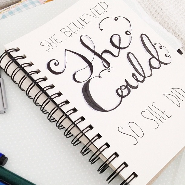 #lettering #practice for my #artjournal layout. In my #sketchbook, via Flickr.