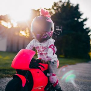 Girls Pink Motorcycle Helmets with accessories
