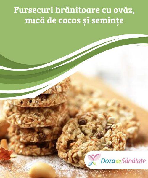 Fursecuri hrănitoare cu ovăz, nucă de cocos și #semințe  În loc să cumperi dulciurile nocive din comerț, #prepară următoarele fursecuri hrănitoare la tine acasă. Pe lângă faptul că este sănătos, acest #desert este sățios, sărac în zahăr și îți va oferi plusul de energie de #care ai nevoie.