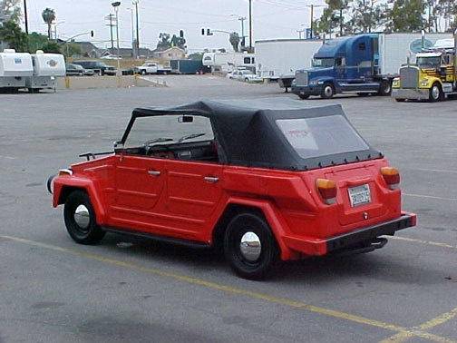 Volkswagen Thing. Next to my baby the Nash Metropolitan, the VW Thing is my favorite car.  Someday...