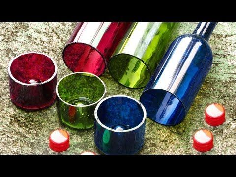 El Cheapo Wine Bottle Cutter With a Perfect Edge, How to Video DIY Recyc...