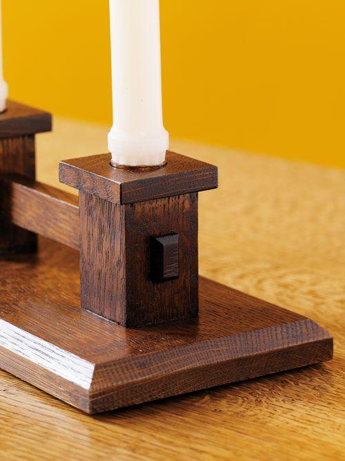 Mission candle holder – Canadian Home Workshop