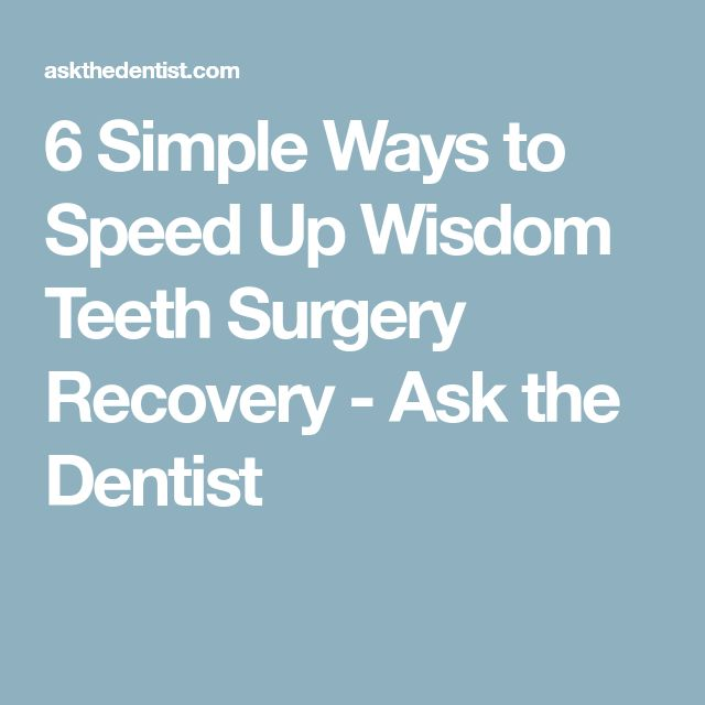 how to help wisdom teeth pain after removal