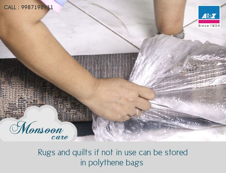 Rugs and quilts if not in use can be stored in polythene bags or  paper rolls to avoid moistness and growth, sunning them before  packing them off can help. #atoz #MonsoonCare