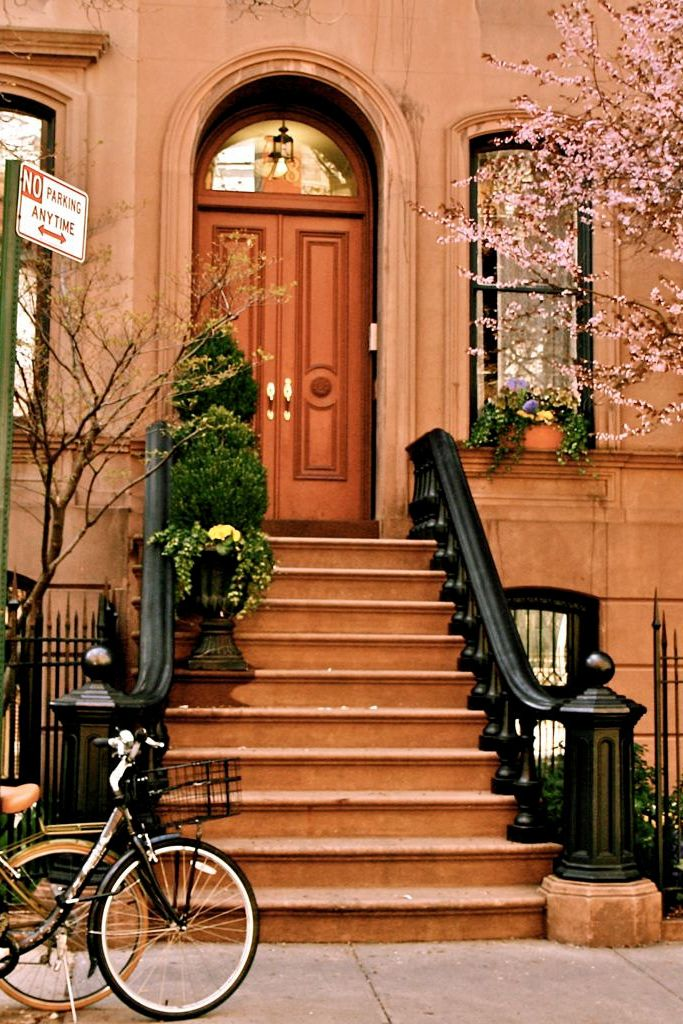 Nyc brownstone dream house front doors posts for New front door for house