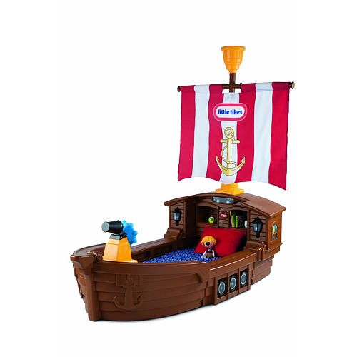I don't care if this is ridiculously expensive. Memphis needs. Little Tikes Pirate Ship Toddler Bed $279.99