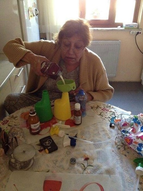 Mother preparing anti-teargas solution for her daughters who go to protest at Gezi Park, Turkey.