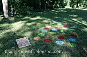 Outdoor party game lawn twister