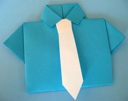 DIY Fathers Day Craft: Origami Card