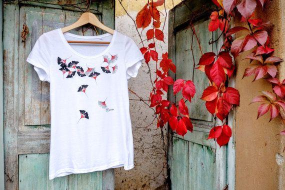 T-shirt waterfall flowers jersey t-shirt design di ImImagination