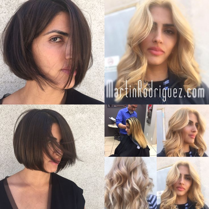 From blonde back to natural Brunette hair coloring by martinrodriguez.com