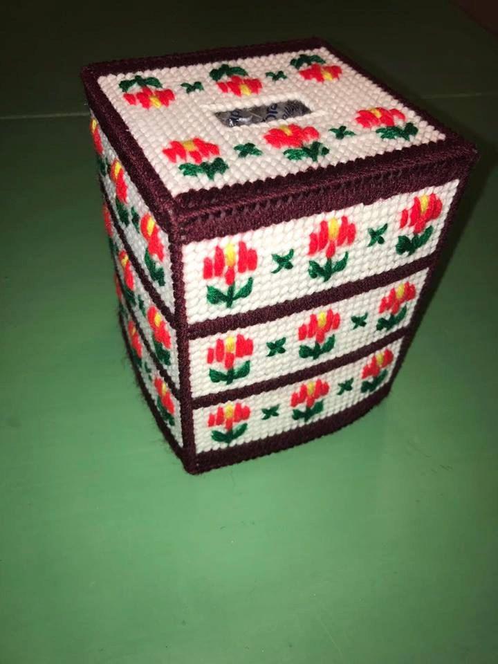 Cubierta de caja del tejido por BurqueBoutique en Etsy