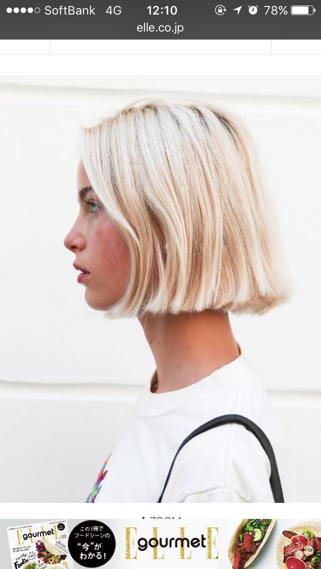 Bright Blonde Bob Artistic Female Photos In 2019 Hair Blonde
