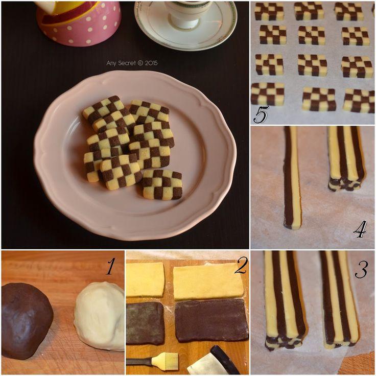 Any secret...: Biscotti a scacchi: i biscotti arlecchino per carnevale!