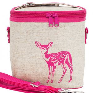 Insulated lunch bag small - pink fawn by SoYoung