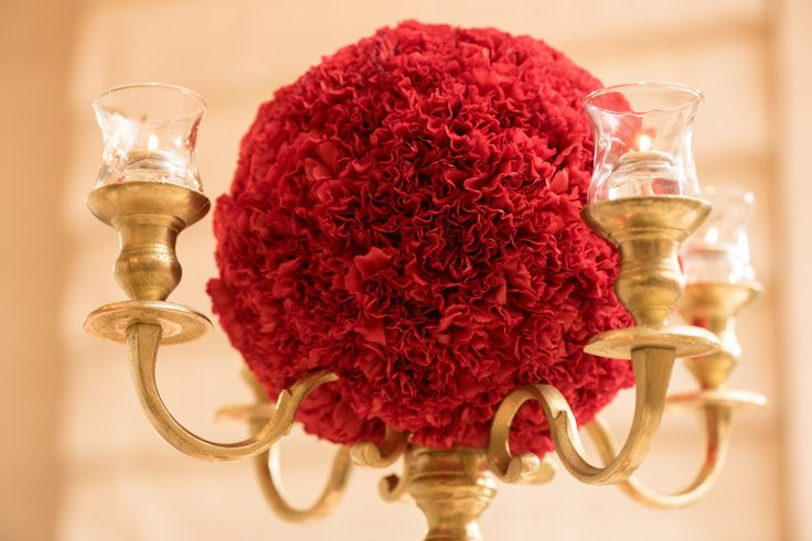 Bespoke The Wedding Event, Regal Red & Gold Wedding, Gold Candelabra Centerpieces, Wedding Florals