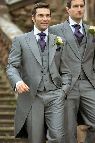 Groom Fashion wear this with  a burgundy tie...classic