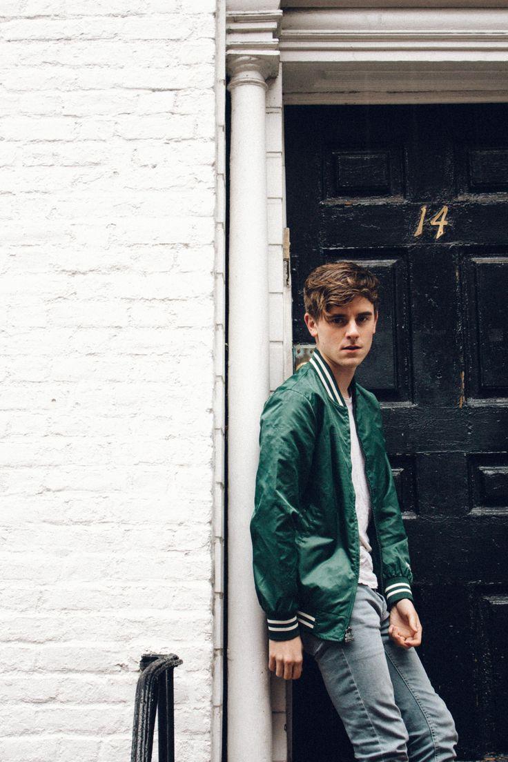 Connor Franta my man..Love his green jacket!!