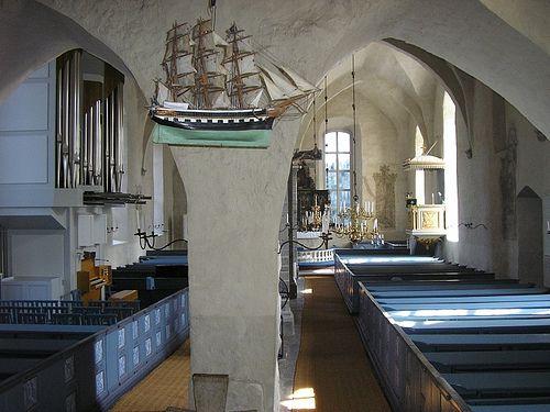 Inside the church of Sund, Åland, Finland. Photo DINau