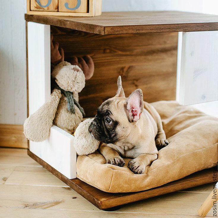 Купить Домик-тумба для собаки - комбинированный, мебель для животных, мебель из дерева, домик для собаки, будка