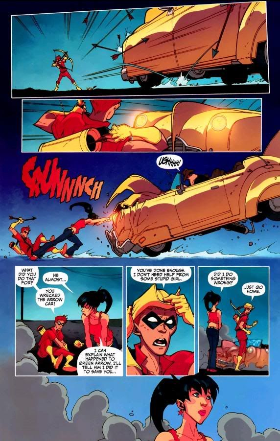 Donna Troy and Roy Harper | And then Donna goes back to the Titan's Lair and cries.