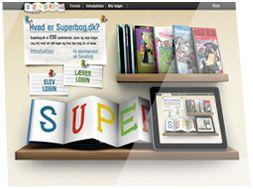 Superbog er en portal med bøger til elevernes selvstændige læsning. Det er en del af potalen i-dansk. (abonnement)