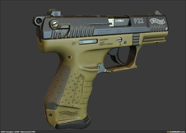 Walther P22, Robert Maschke on ArtStation at http://www.artstation.com/artwork/walther-p22