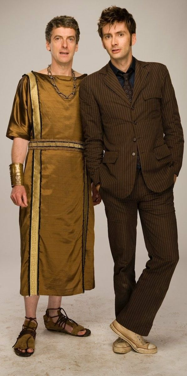 David and Peter Capaldi in Fires of Pompeii