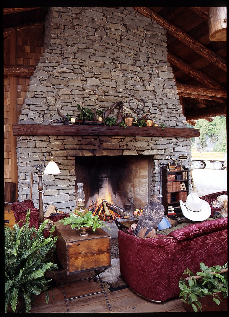 The Grand Outdoor Lounge and Fireplace. Clayoquot Wilderness Resort www.wildretreat.com