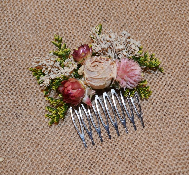 Wedding Hair Accessory Dried Flowers Hair Comb -  Gorgeous  -Can Be Custom Made to Order by ArtistryinFlorals on Etsy https://www.etsy.com/listing/231451699/wedding-hair-accessory-dried-flowers