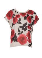 Womens *Izabel London Multi Red Batwing Top- Red