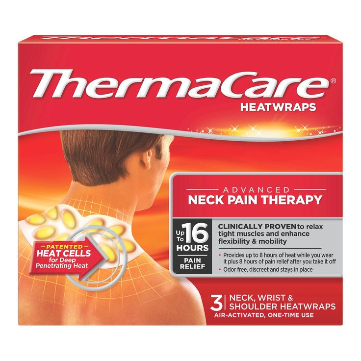 ThermaCare Air Activated Neck/Wrist/Shoulder Pain Odor Free Therapy Heatwraps - 3ct