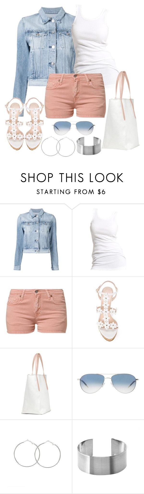 """""""Untitled #1126"""" by gallant81 ❤ liked on Polyvore featuring 3x1, Soaked in Luxury, Edwin, Oscar de la Renta, Oliver Peoples and Maria Dorai Raj"""