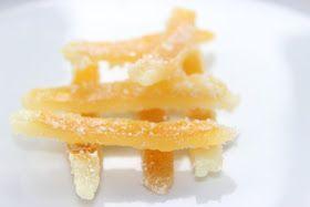 Cáscara de limón confitada