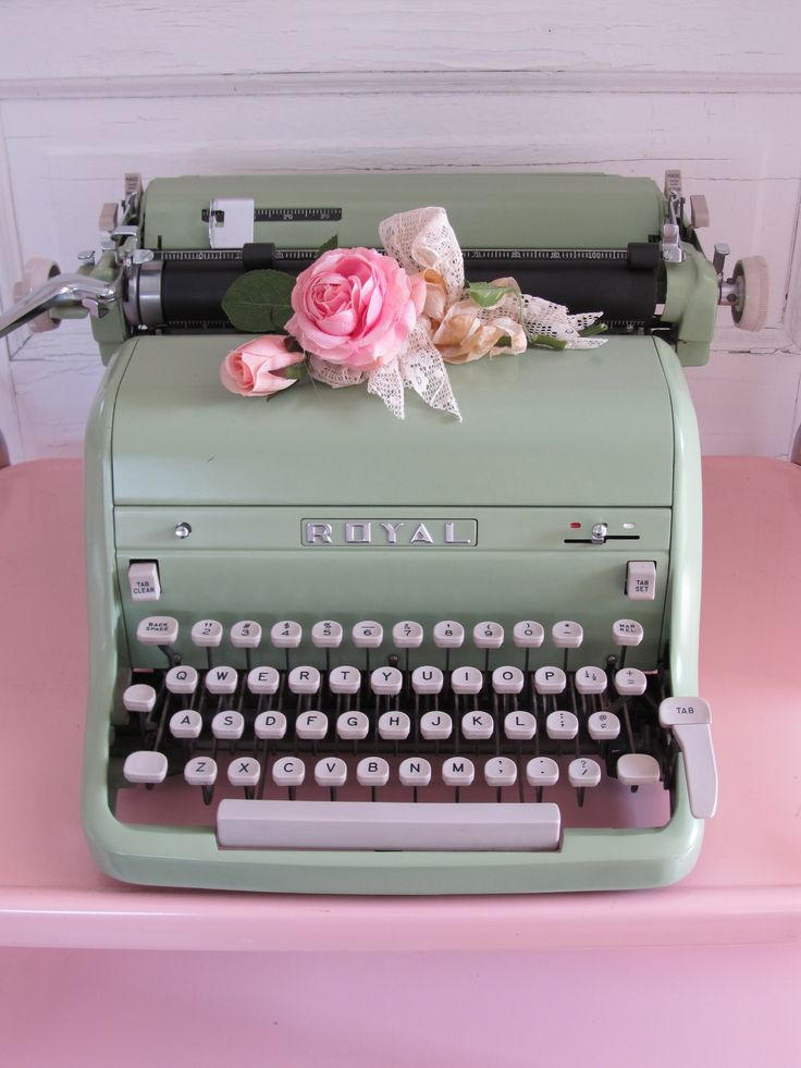 Vintage mint typewriter.....if I ever find a cool one, I will buy it. Where I will put it? I have no idea