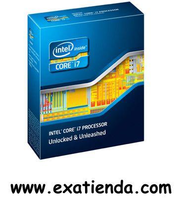 Ya disponible Cpu Intel s 2011 core i7   (por sólo 312.99 € IVA incluído):   -Socket soportado: LGA 2011 ( sin ventilador) -Cache: 10Mb -Numero de nucleos: 4 -Conjunto de instrucciones: 64-bit -Velocidad de Reloj: 3,60 GHz (3.8GHz turbo) -Bus del Sistema: 5 GT/s -Arquitectura: 32nm -Intel Graphics:NO -Formato: BOX    Garantía de 24 meses.  http://www.exabyteinformatica.com/tienda/2881-cpu-intel-s-2011-core-i7-3820-3-6-ghz-box #intel #exabyteinformatica