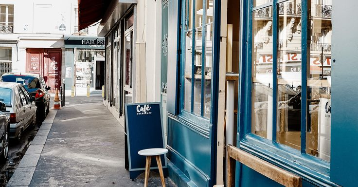 Café Oberkampf Paris, France Food + Drink building Town way street neighbourhood City sidewalk road alley door house