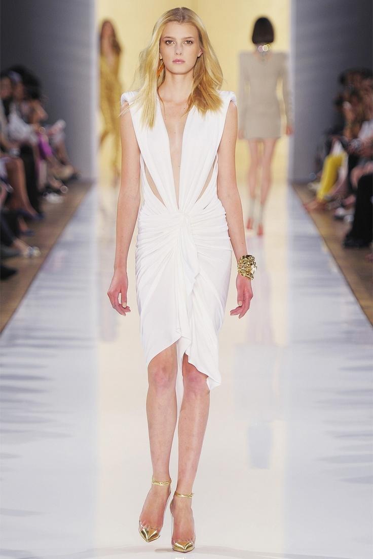white modern Grecian dress