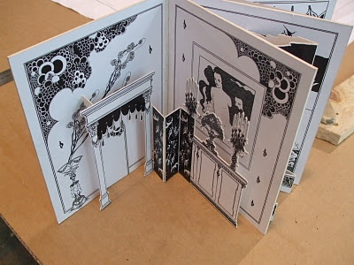 The pop-up book style set model for our 2011 production of The Importance of Being Earnest, designed by Tony Tripp.