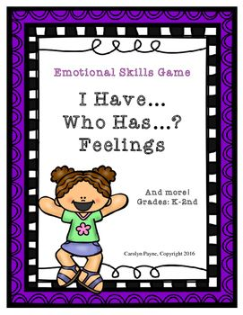 I Have, Who Has? is an interactive game (26 cards) to help children practice learning words for different feelings and recognizing feelings in others. Students can have the opportunity to share times when they have experienced different feelings. Feelings include: happy, proud, excited, confused, scared, worried, sad, angry, shy, embarrassed, shocked and confused.Also included:  Feelings Poster and Feelings Faces coloring sheet.Game cards and poster are available in black and white or…
