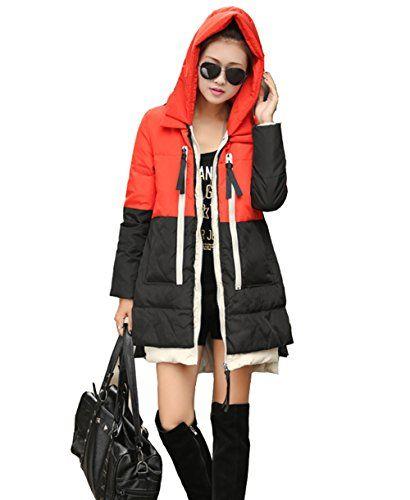 BININBOX® Damen Fashion Parka Jacke Thicken Fleece Kunstpelz Warmen Daunenmantel Daunenjacke mit Kapuze Wintermantel (46( Länge 85cm/ Brust 114cm), Schwarz) BININBOX http://www.amazon.de/dp/B00OLKDKKW/ref=cm_sw_r_pi_dp_LwcRub0EJY0MT