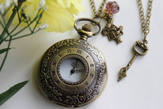 Alice in Wonderland  Steampunk Roman Numerals by emilymoon2003, $17.99