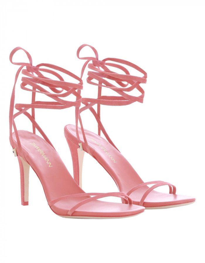 f34f56d2a43 Zimmermann Tie Sandal Heel | Glamorous Fashion | Stiletto heels ...