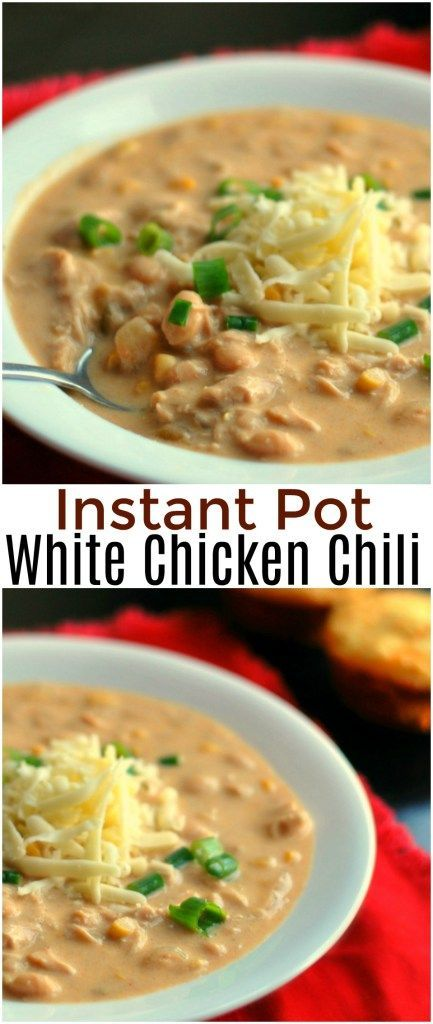 This Instant Pot White Chicken Chili could NOT be any easier and it is DELICIOUS!  One of our favorite pressure cooker recipes so FAR!