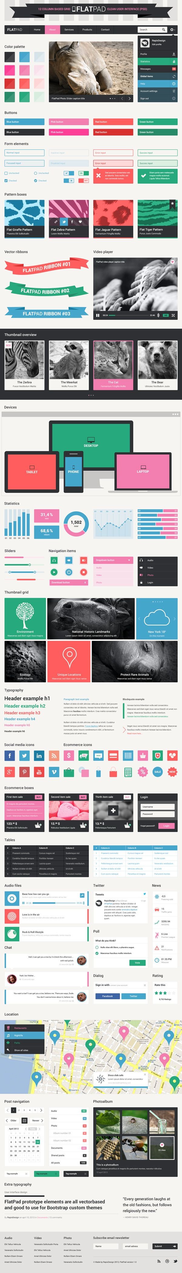Repix is easily one of my favorite designers. Love his take on Flat UI for Boots…