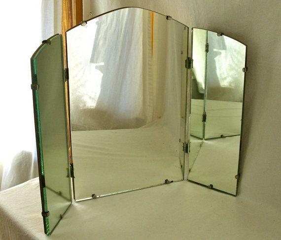 S folding mirror wall dressing table dresser boudoir