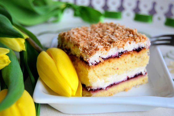 cake ciasto łabędzi puch