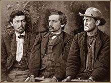 Along with Dr. Mudd, three other conspirators were sentenced to life imprisonment: (left to right) Confederate Army veteran Samuel Arnold, Confederate operative Michael O'Laughlen and hapless stagehand Edmund Spanger.