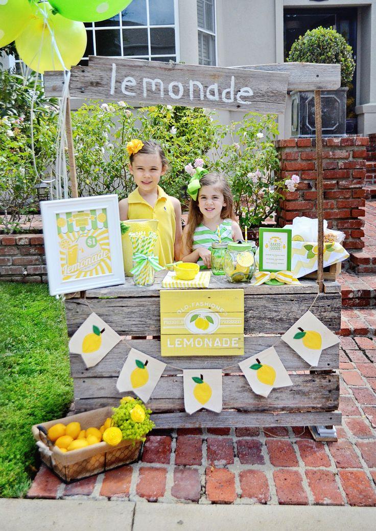 64 best images about lemonade stand inspration on for Lemon shaped lemonade stand